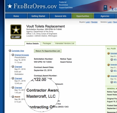 Commercial Work Projects for the Federal Government